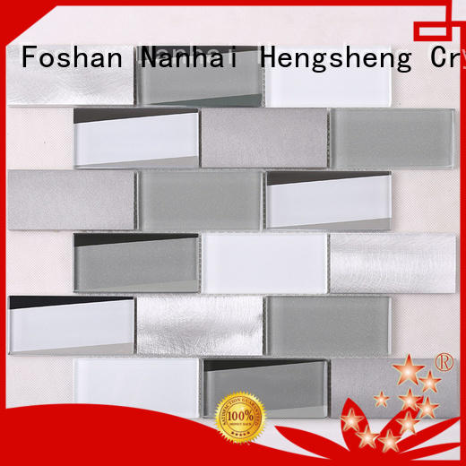 3x4 glass metal tile marble supplier for hotel
