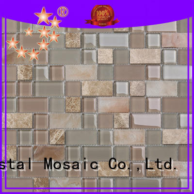 electroplated metallic glass mosaic tile supplier for villa Heng Xing
