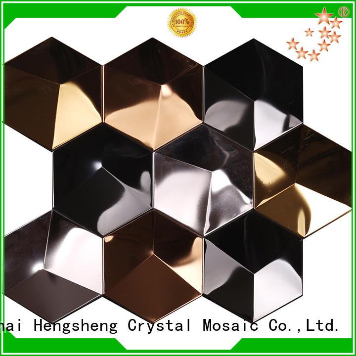 Heng Xing hexagon metallic subway tile manufacturer for living room