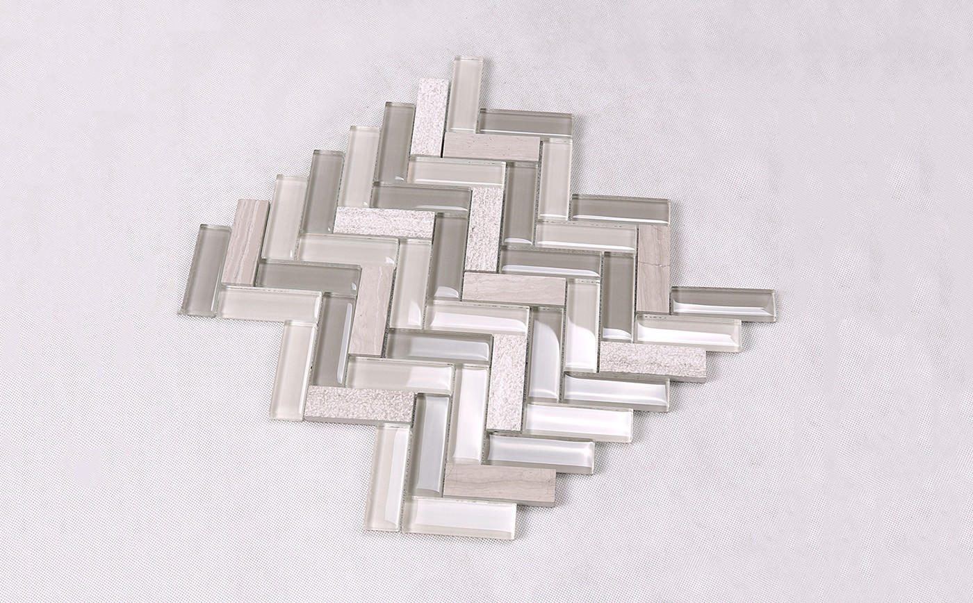 Heng Xing-Find Kitchen Backsplash Tile Herringbone Kitchen Glass Stone Mosaic Tile