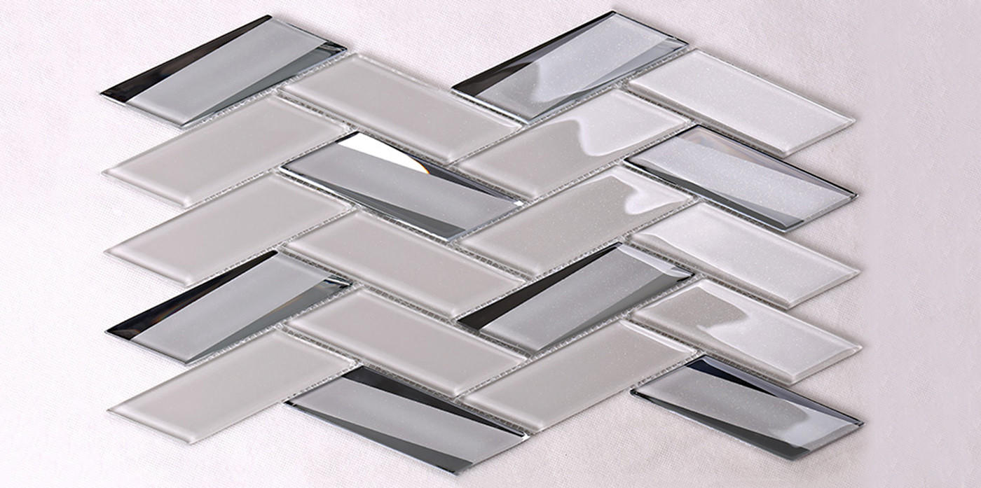 Heng Xing beveled clear glass tiles decor for living room-1