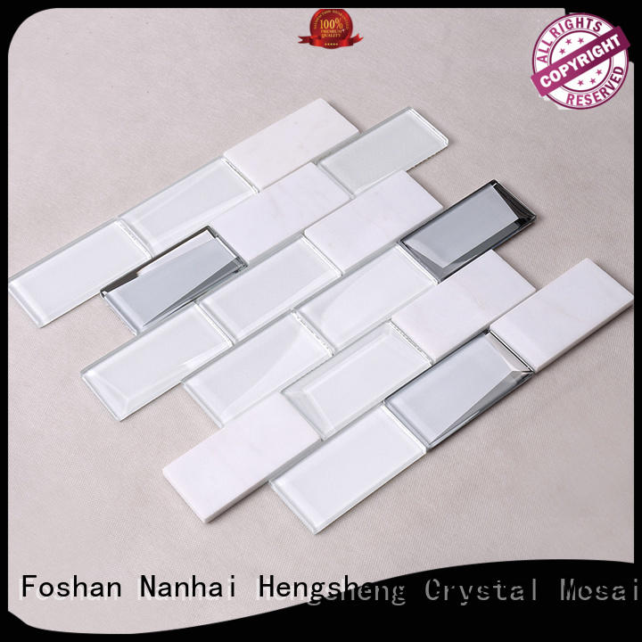 2x2 marble pattern back Heng Xing Brand pool tile supplier