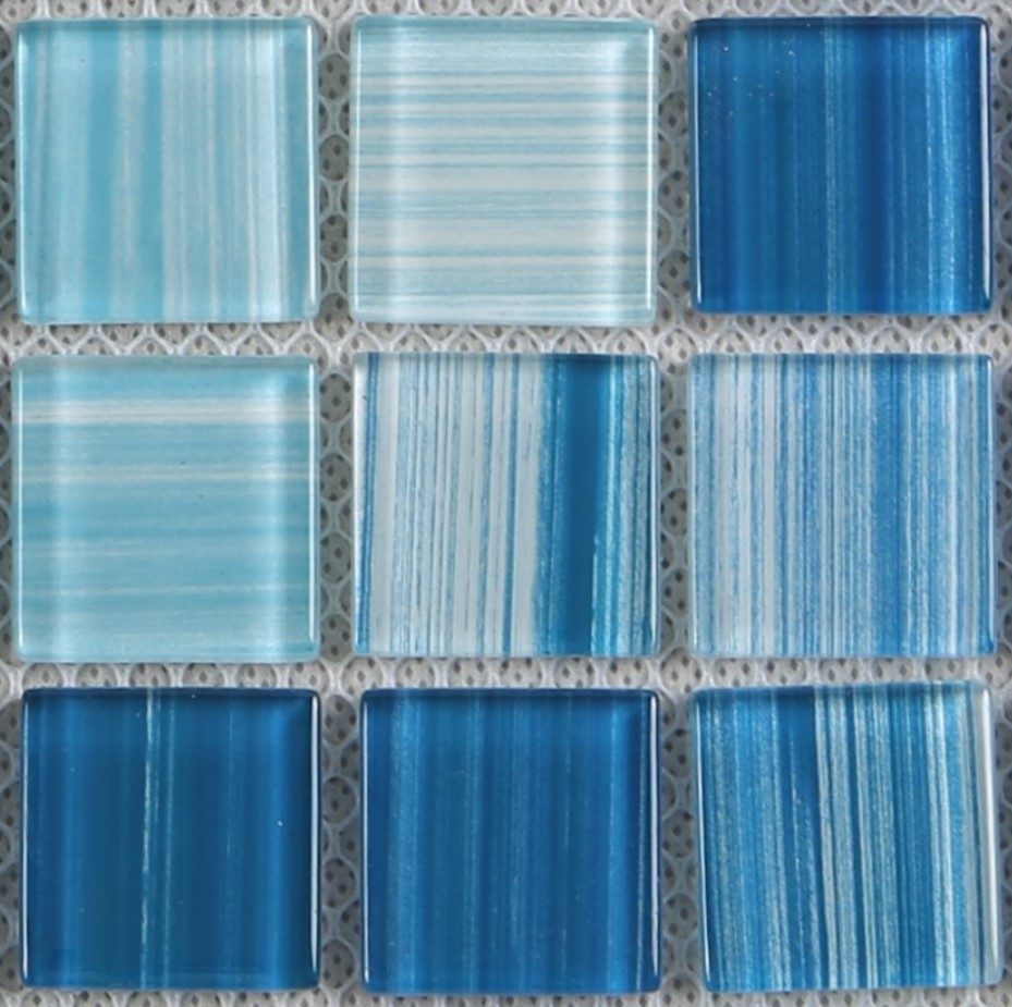 Heng Xing-Swimming Pool Tiles | Hand Painted Blue Water Pool Mosaics-2