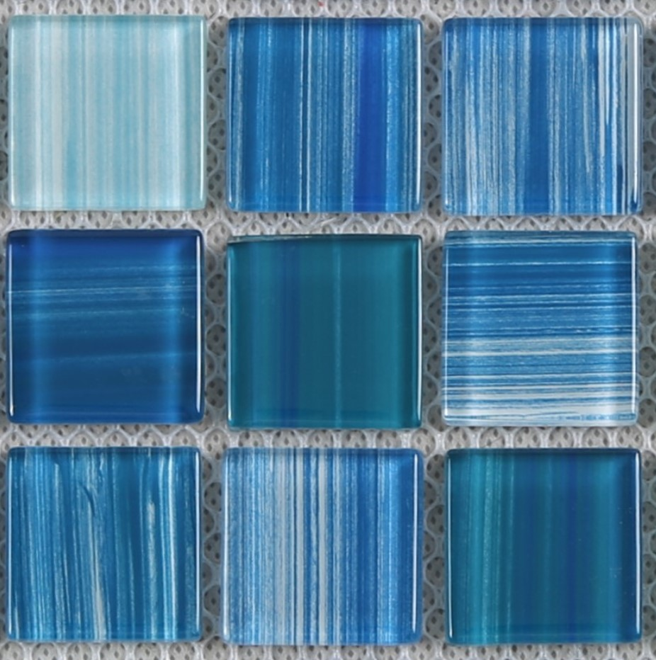 Heng Xing-Swimming Pool Tiles | Hand Painted Blue Water Pool Mosaics-3
