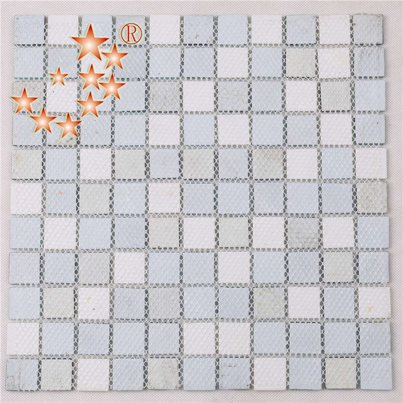Heng Xing-Hand Painted Blue Water Pool Mosaics Glass Tile Supplier 4CSB33