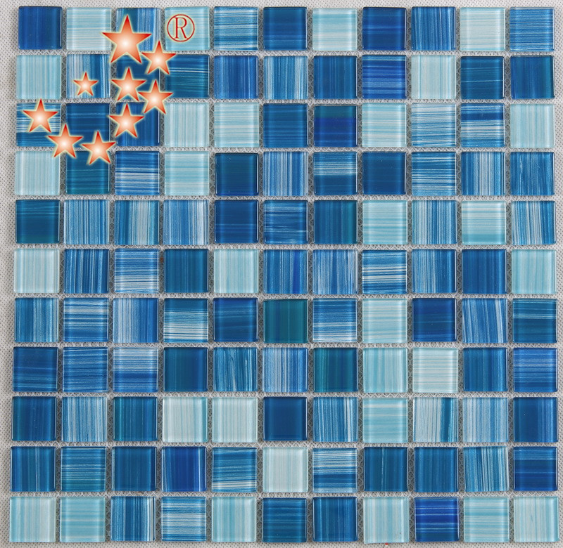 Heng Xing-Swimming Pool Tiles | Hand Painted Blue Water Pool Mosaics-1