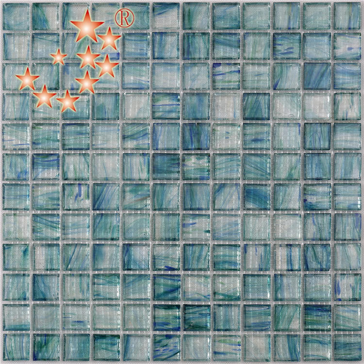 blue pool step tile wholesale for bathroom Heng Xing
