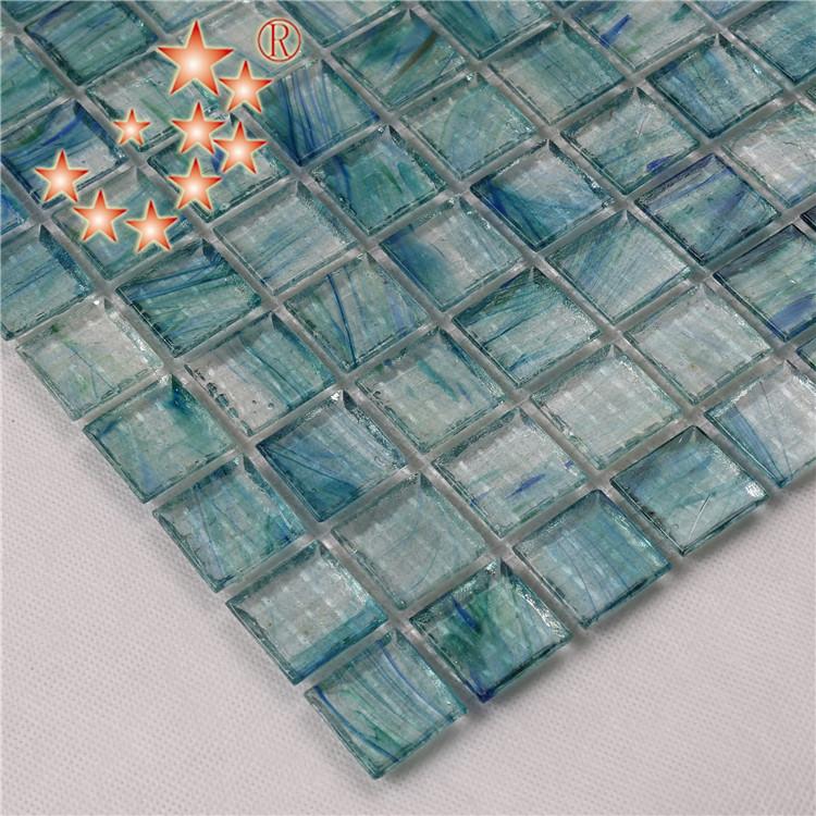 Heng Xing-Pool Mosaics, Light Blue Swimming Pool Glass Surround Tiles-1