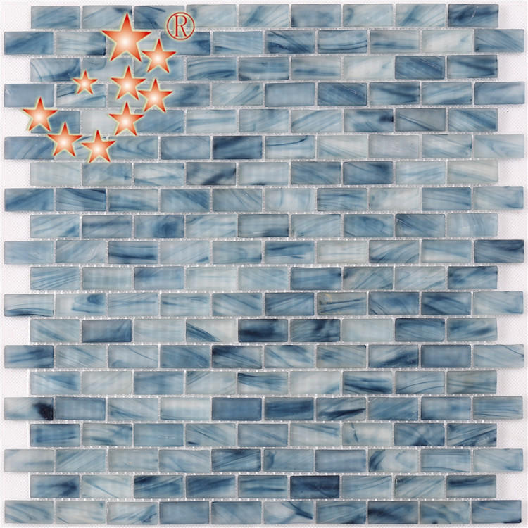 Light Blue Waterline swimming Pool Mosaic Tiles Cheap Price NM766