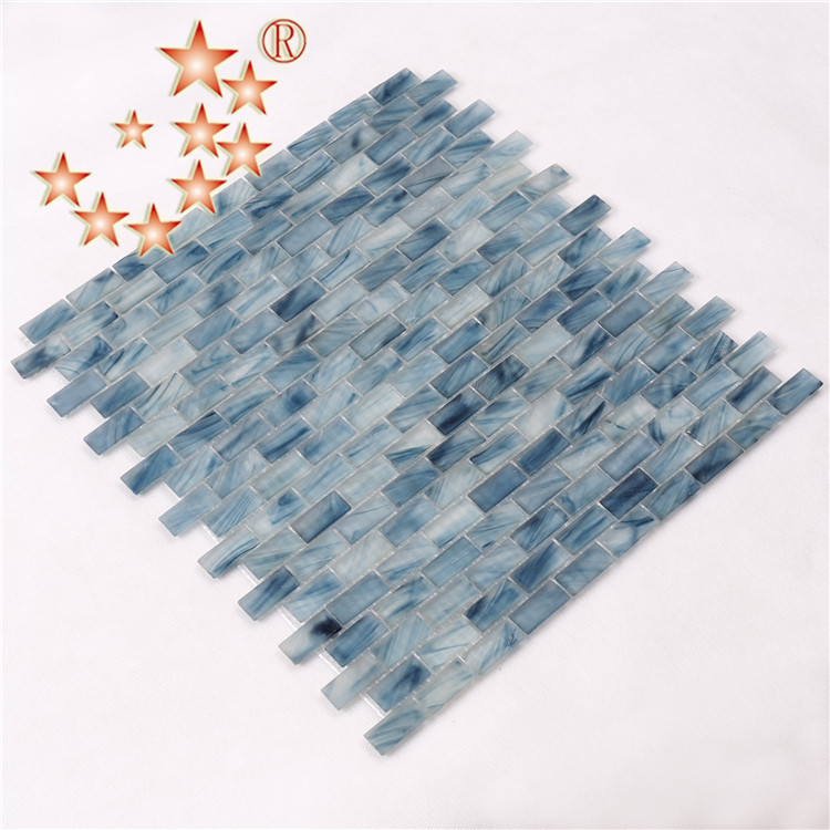 Heng Xing-Cheap Pool Tile | Light Blue Waterline Swimming Pool Mosaic Tiles-2