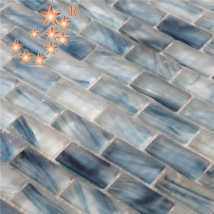Heng Xing-Cheap Pool Tile | Light Blue Waterline Swimming Pool Mosaic Tiles-3