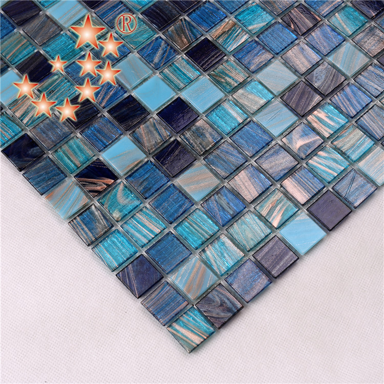 Heng Xing-Pool Mosaik, Glass Mosaic Tiles For Swimming Pool Floor And Deck-2