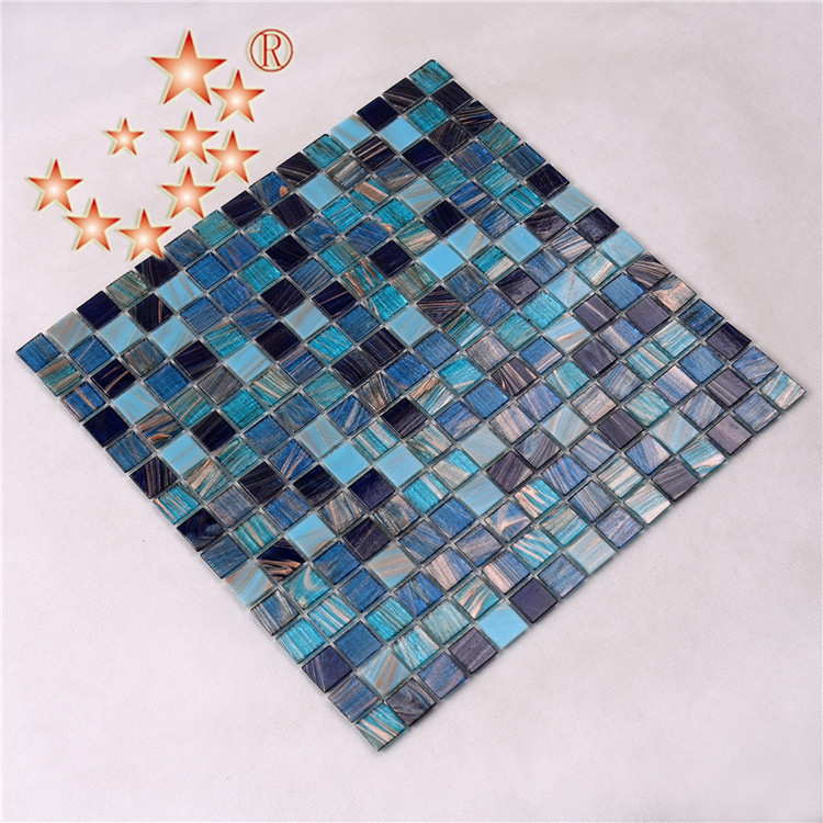 Heng Xing-Pool Mosaik, Glass Mosaic Tiles For Swimming Pool Floor And Deck-3