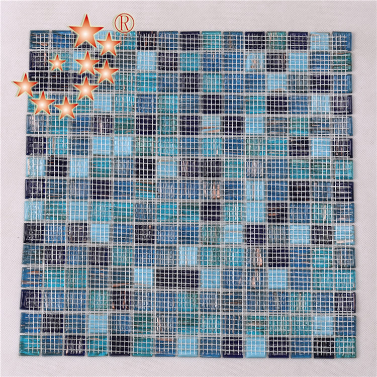 Heng Xing-Pool Mosaik, Glass Mosaic Tiles For Swimming Pool Floor And Deck-4