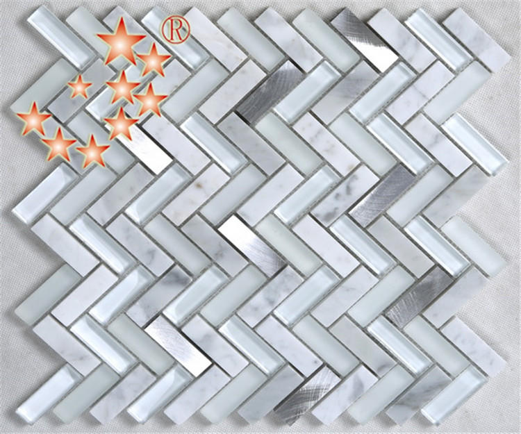 Heng Xing beveled glass mosaic bathroom tiles yms09 for bathroom