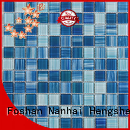 green glass mosaic pool tiles wholesale for bathroom Heng Xing