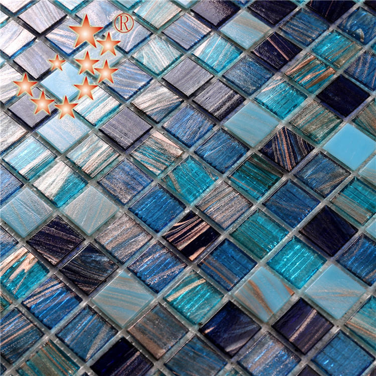 Heng Xing-Pool Mosaik, Glass Mosaic Tiles For Swimming Pool Floor And Deck-1