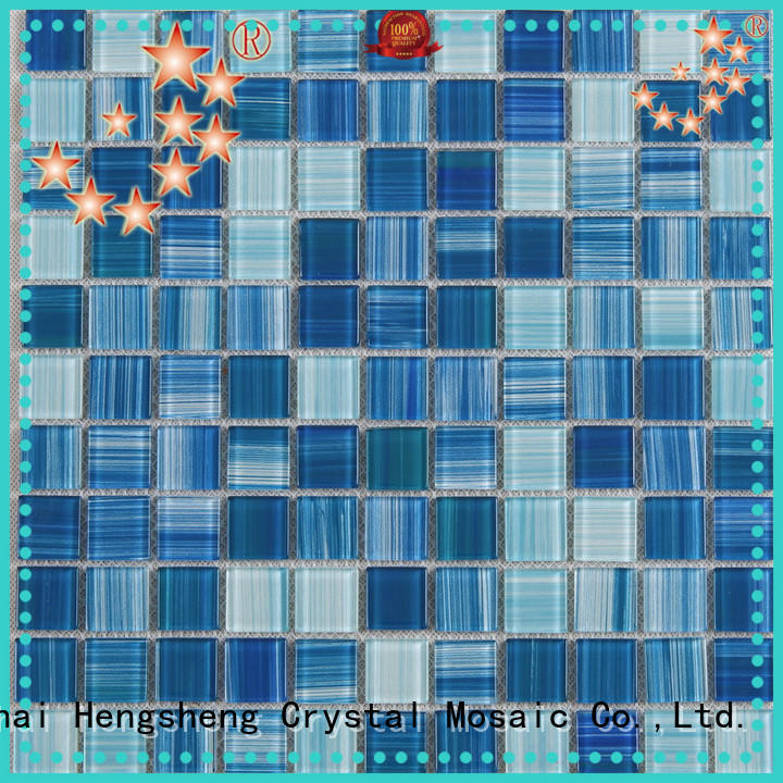 2x2 glass mosaic tiles for swimming pool customized for spa Heng Xing