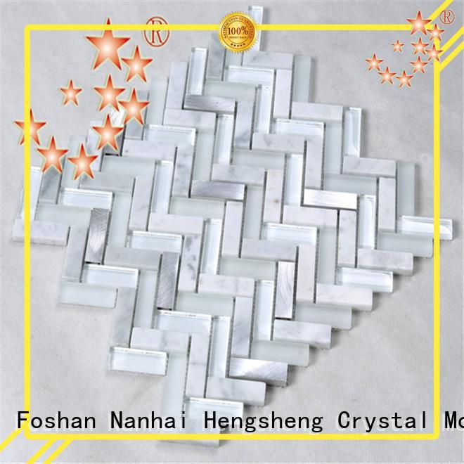 aluminum mosaic glass hexagon for living room Heng Xing
