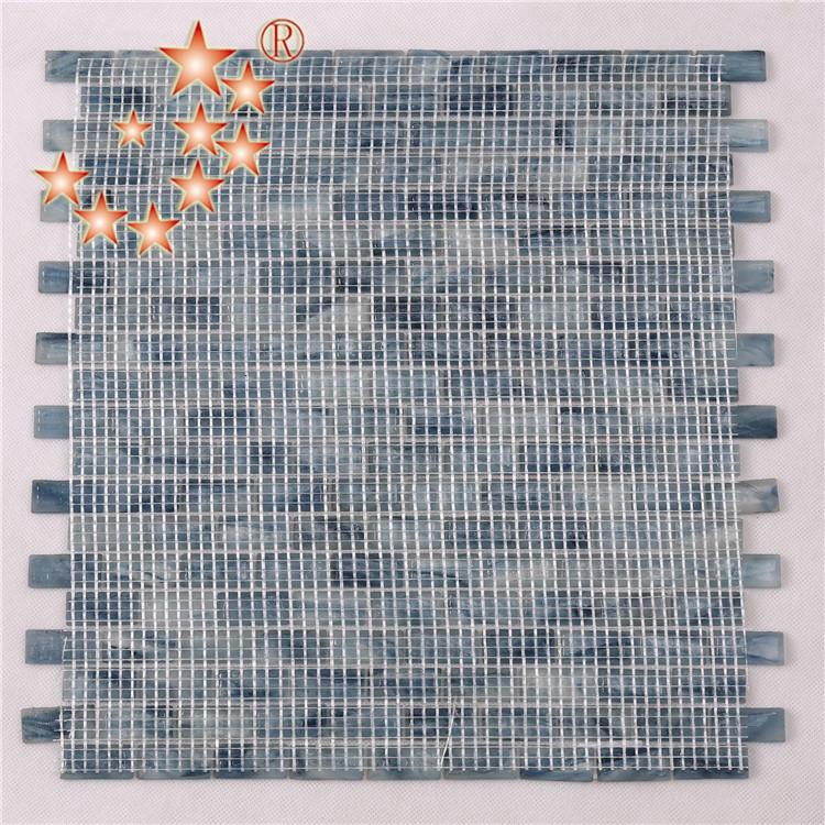 Heng Xing-Light Blue Waterline swimming Pool Mosaic Tiles Cheap Price NM766-2