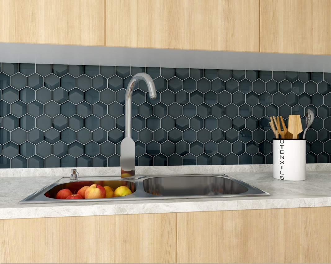 Heng Xing-metallic glass tile ,glass brick tiles for kitchen | Heng Xing-7