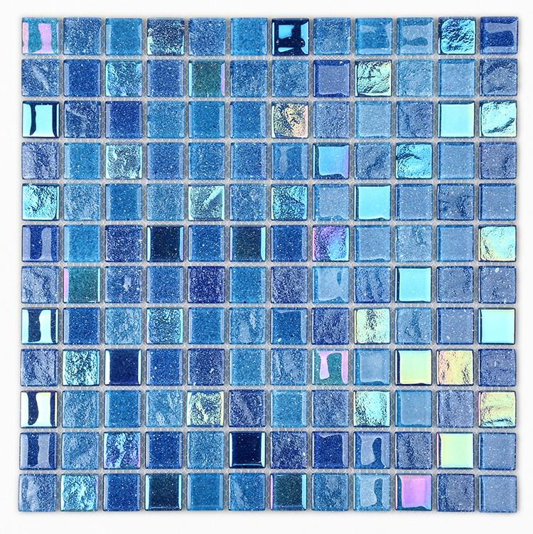 Heng Xing Latest light blue glass tile factory for hotel-1