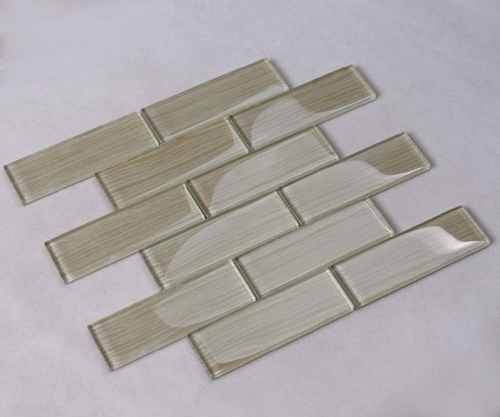 Heng Xing-white glass tile ,herringbone tile backsplash   Heng Xing-2