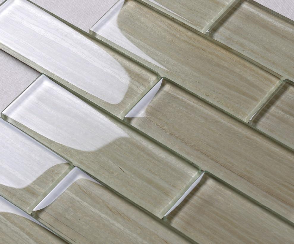 Heng Xing-white glass tile ,herringbone tile backsplash   Heng Xing-1
