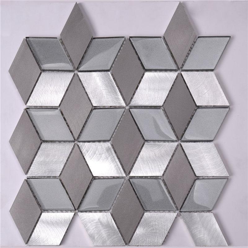 Heng Xing grey glass mosaic tiles customized for villa-1