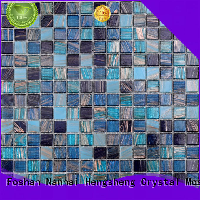 Glass Mosaic Tiles for Swimming Pool Floor and Deck NO-14E