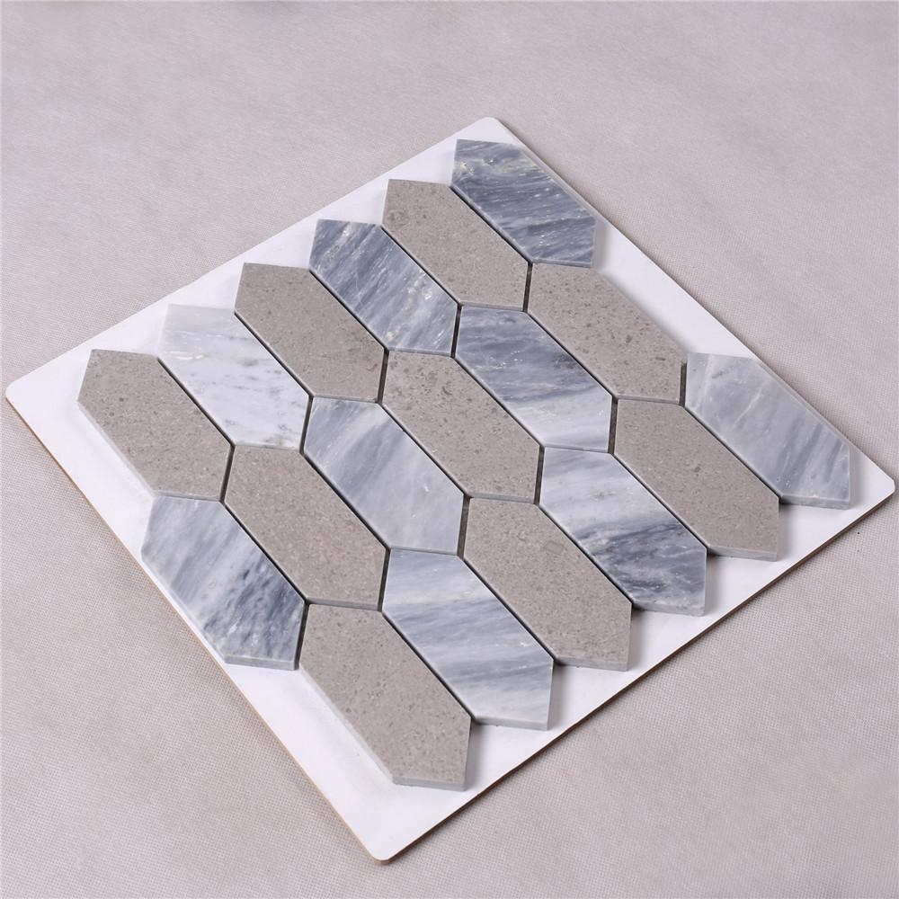 marble mosaic style tiles white factory for bathroom-2