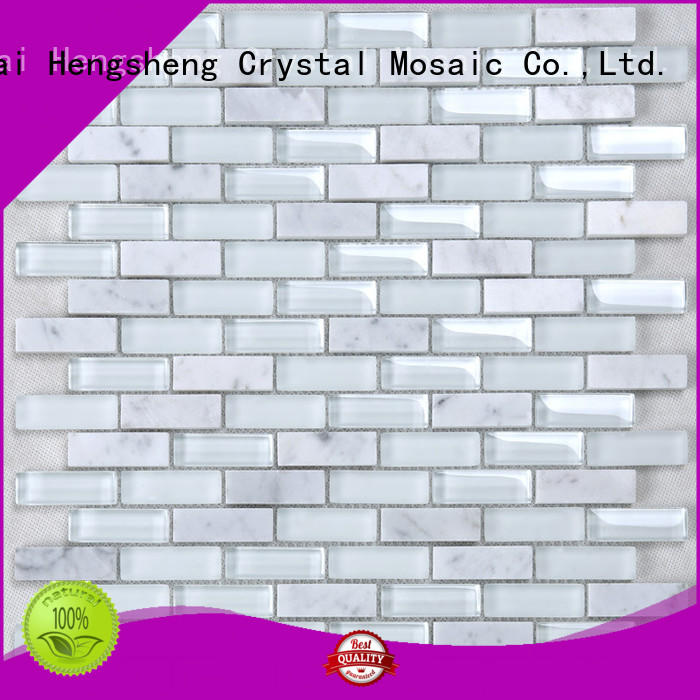 Heng Xing iridescent bevel tile factory price for bathroom