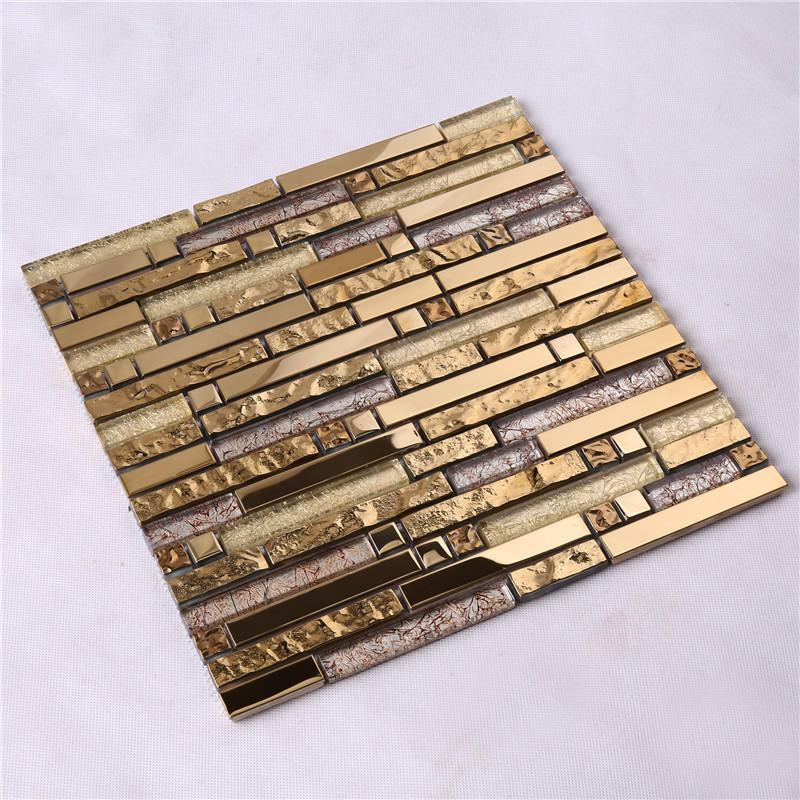 Heng Xing crystal black glass tile backsplash factory for living room-2