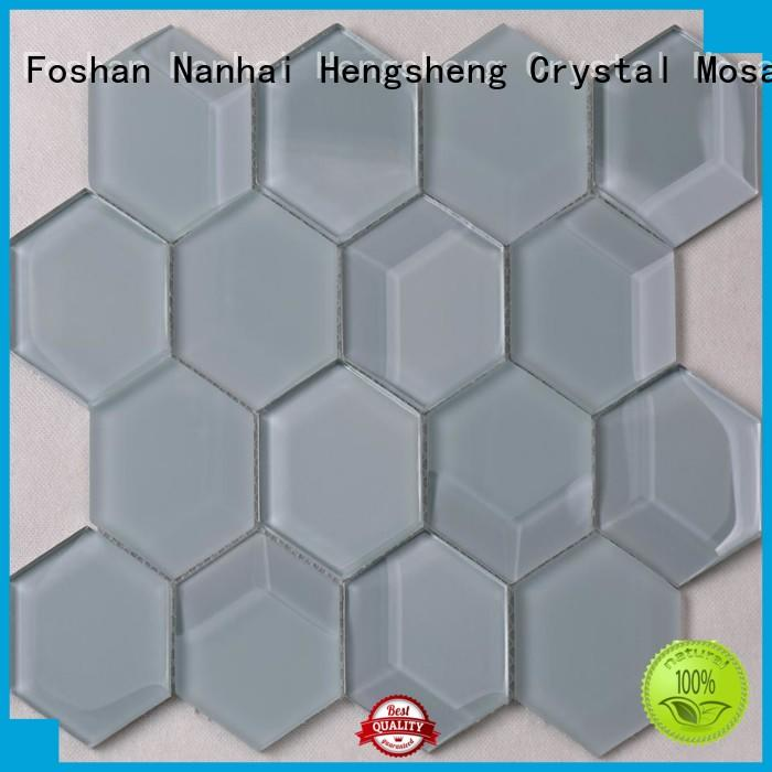 Heng Xing Latest 12x12 glass tile Suppliers for bathroom