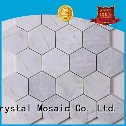 Heng Xing quality mosaic glass tile white for villa