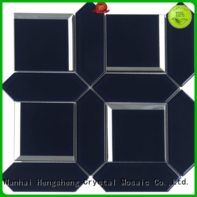 Heng Xing beveling metallic glass tile wholesale for hotel