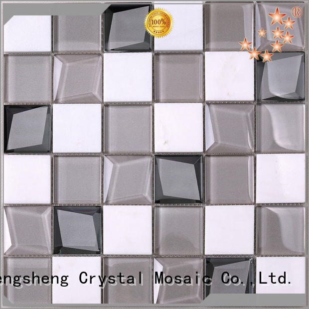 Heng Xing High-quality stained glass tiles backsplash factory price for villa