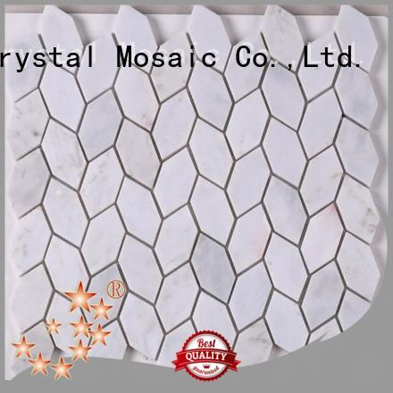 Top glass mosaic tiles for wall white from China for kitchen