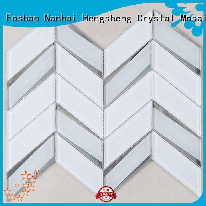 beveling glass mosaic tile decoration supplier for villa