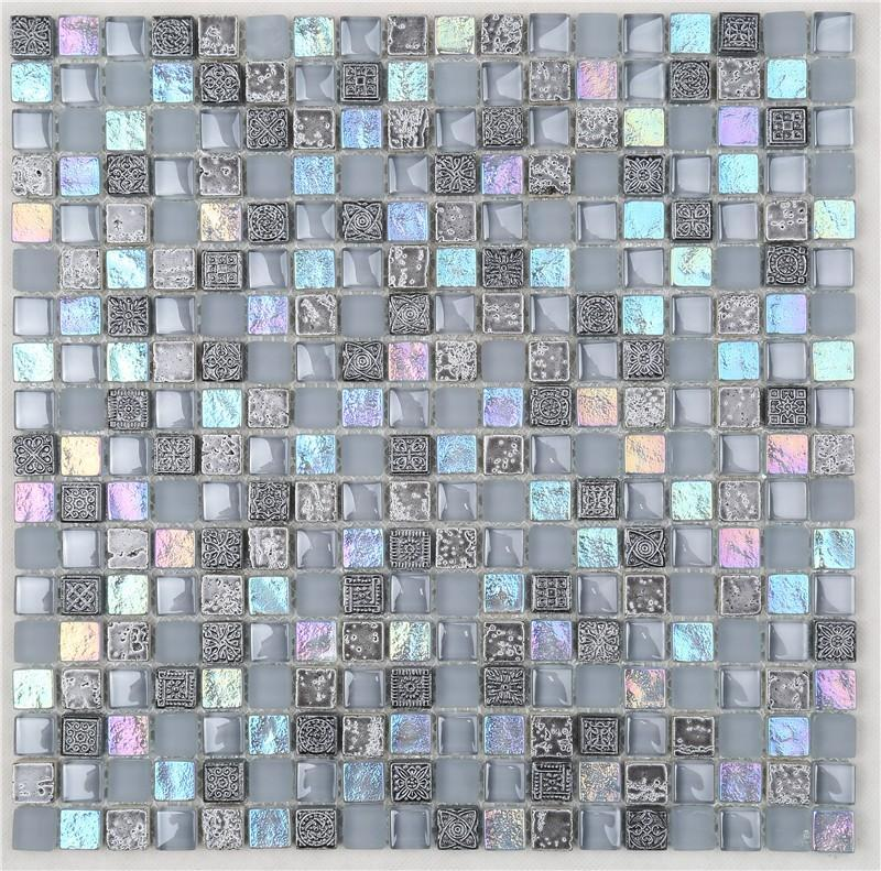 Heng Xing quality stone glass mosaic tilessmoky mountain square tiles with marble backsplash wall stickers company for kitchen-1