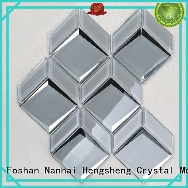 Heng Xing rose marble glass mosaic tile company for kitchen