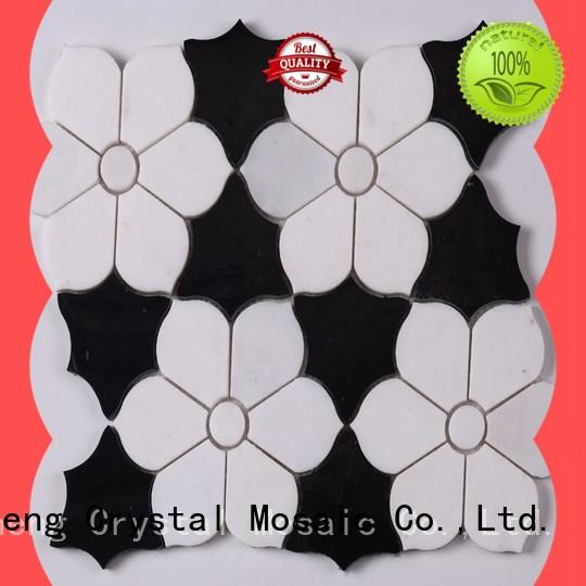 Heng Xing black glass mosaic manufacturer for backsplash