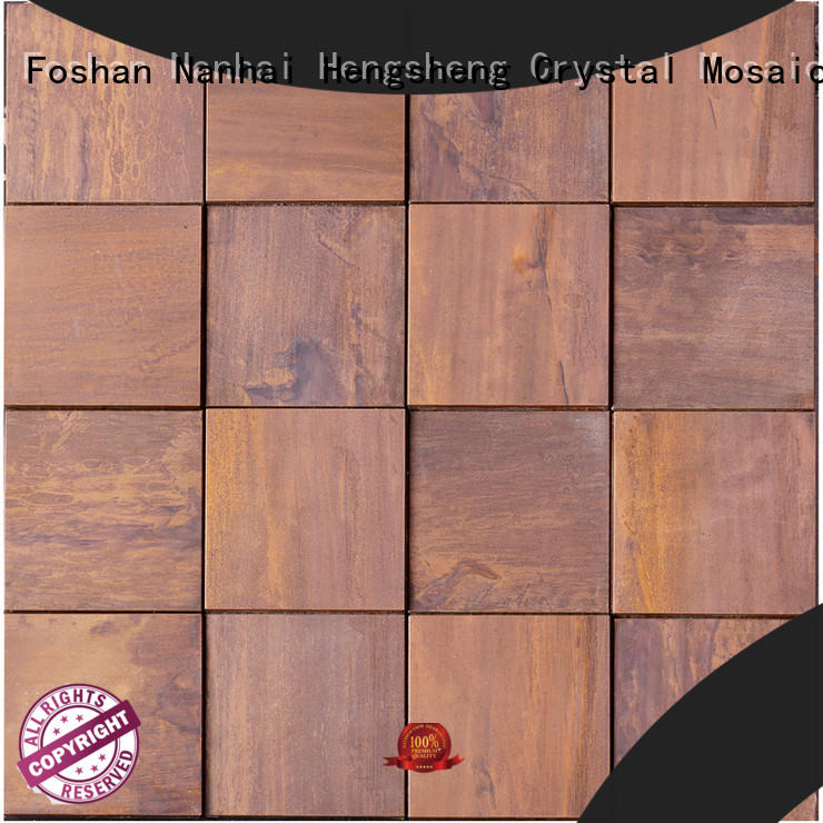 Heng Xing stainless slate mosaic tile series for living room