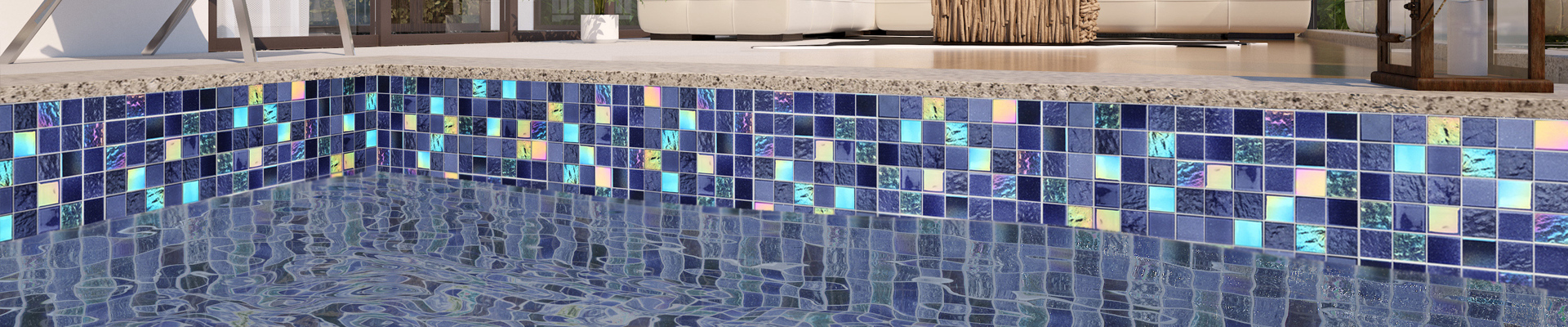 Blue Green Glass Tile Swimming Pool Mosaic Tile Suppliers NE748-Heng Xing