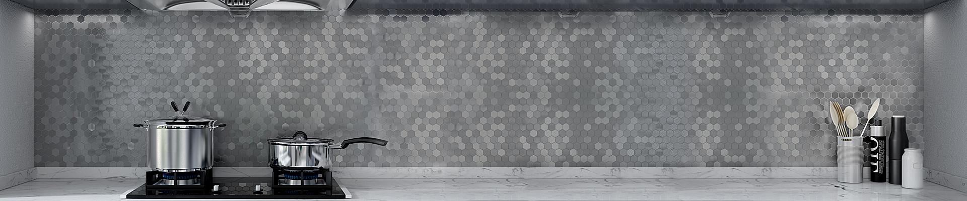 video-home preminum aluminum mosaic tile customized for restuarant-Heng Xing-img