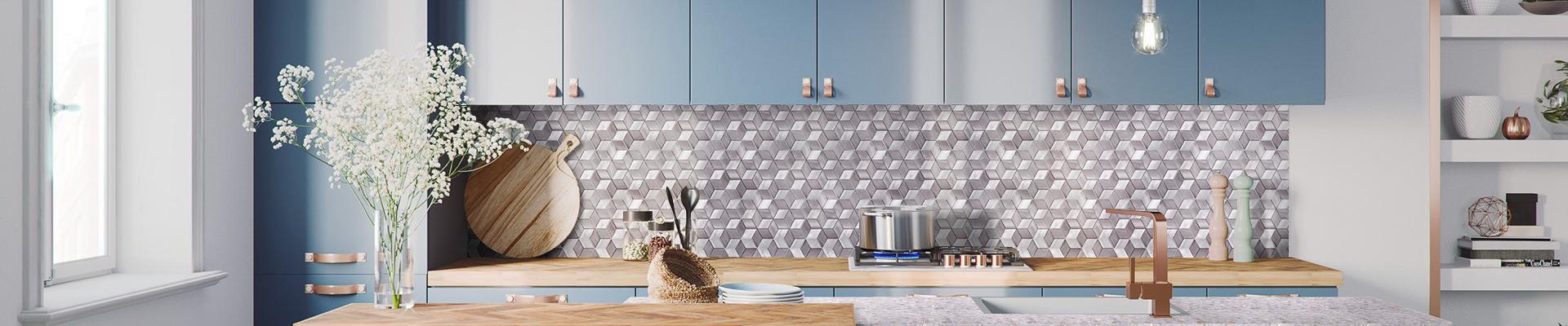 video-Heng Xing 2x2 metal mosaic tile customized for bathroom-Heng Xing-img