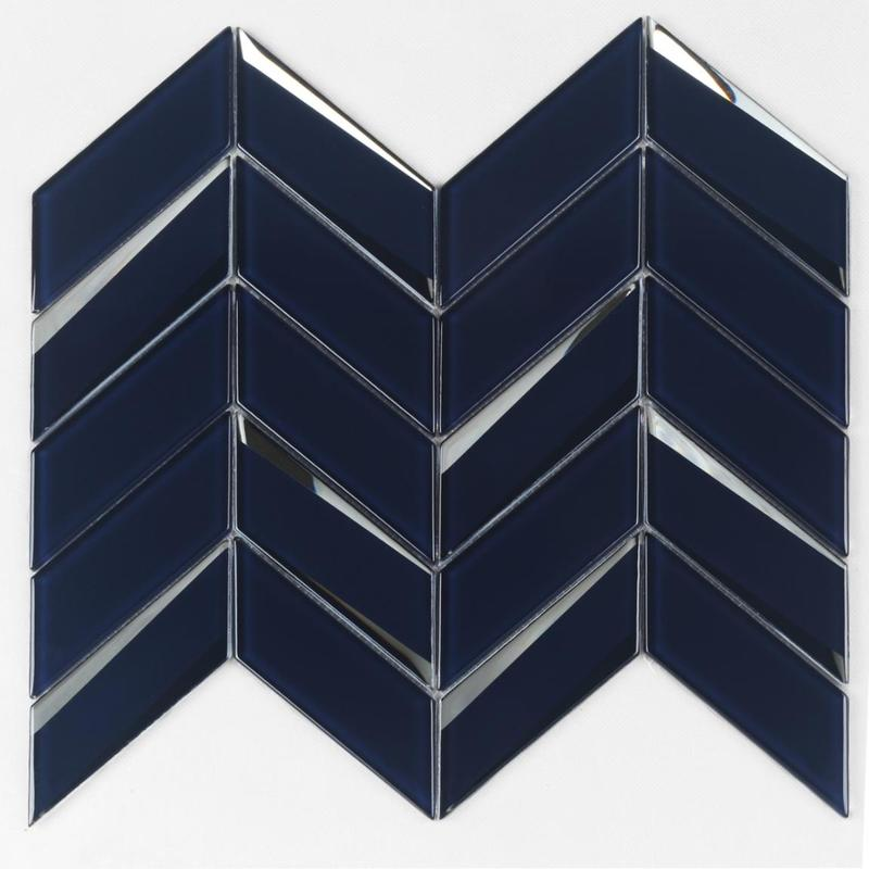 Chevron Shape Beveled Glass Mosaic Tile for Backsplash