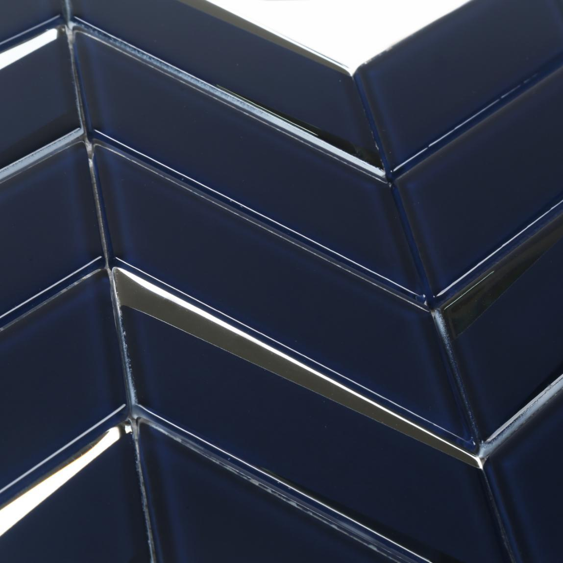 Chevron Shape Beveled Glass Mosaic Tile for Backsplash