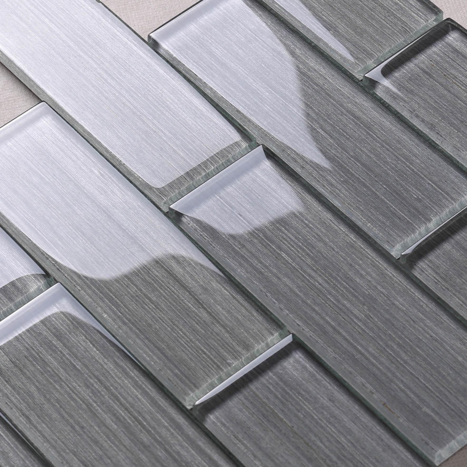 Heng Xing-Glass Wall Tiles, White Glass Backsplash Manufacturer   Glass Mosaic Tile-3