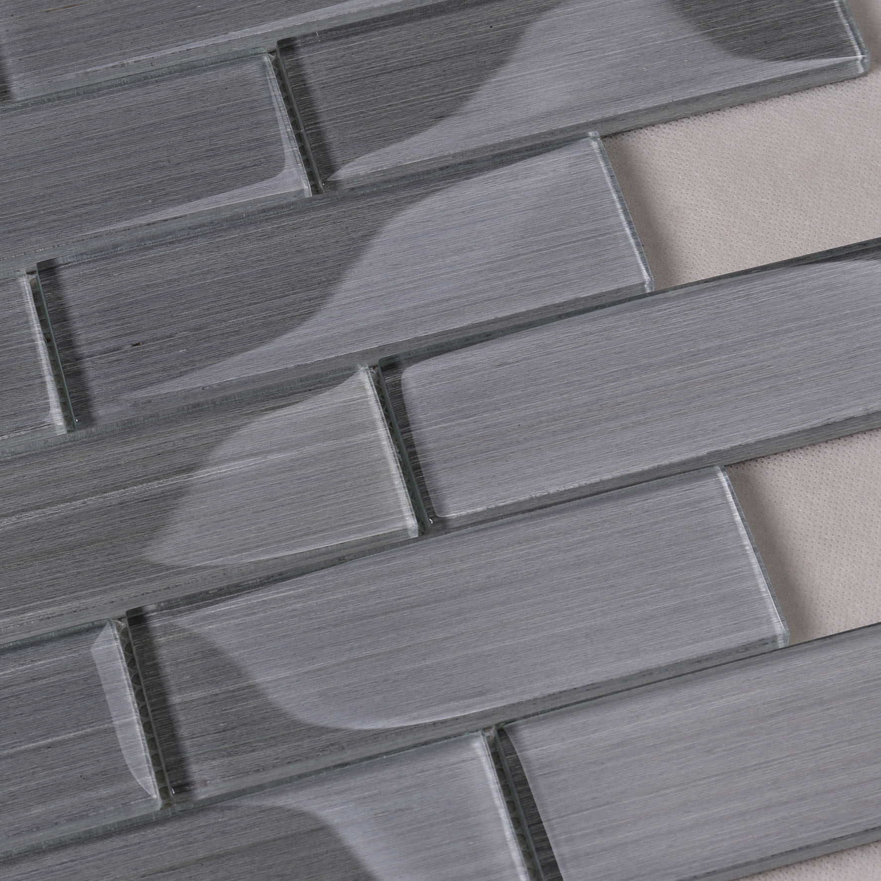 Heng Xing-Glass Wall Tiles, White Glass Backsplash Manufacturer   Glass Mosaic Tile-4